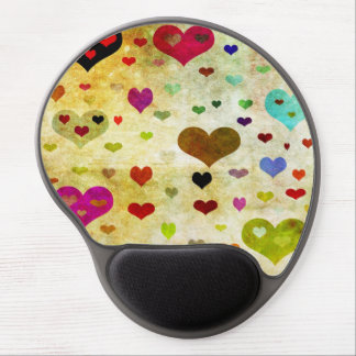 Hearts-Grunged Gel Mouse Pads