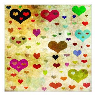 Hearts-Grunged Photo Art