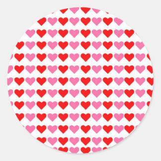 Hearts hearts hearts round sticker