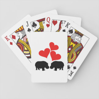 Hearts & Hippos Playing Cards
