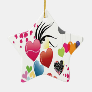 Hearts illustrations design christmas tree ornaments