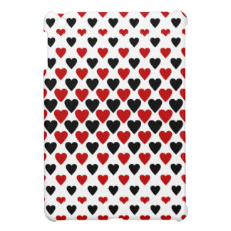 Hearts in Black and Red Cover For The iPad Mini