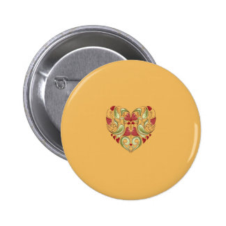 Hearts-In-Heart-On-Beeswax-Orange-Yellow-Pattern Buttons