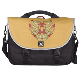Hearts-In-Heart-On-Beeswax-Orange-Yellow-Pattern Laptop Bag