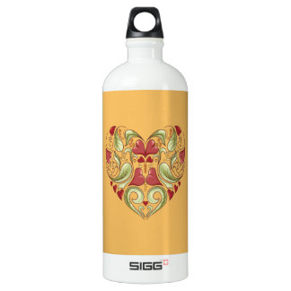 Hearts-In-Heart-On-Beeswax-Orange-Yellow-Pattern SIGG Traveller 1.0L Water Bottle