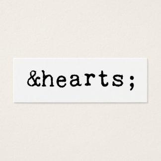Hearts in HTML Mini Business Card