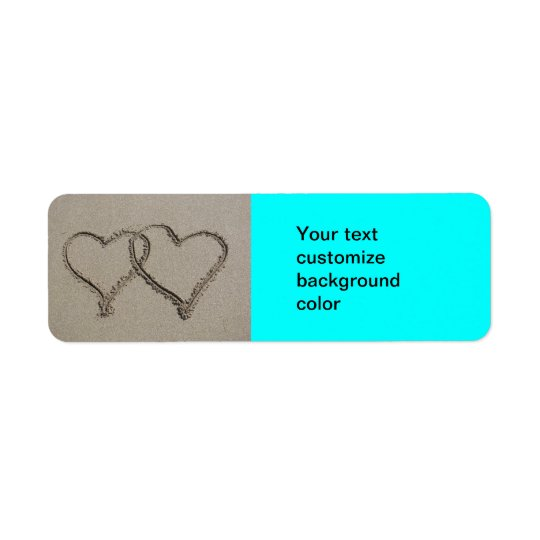 Hearts in the Sand Return Address Label