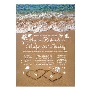 beach wedding invitations zazzle com au