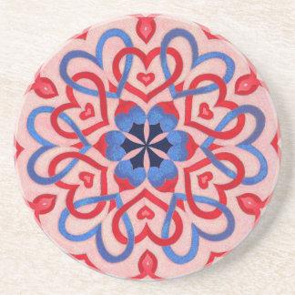 Hearts interlaced drink coaster