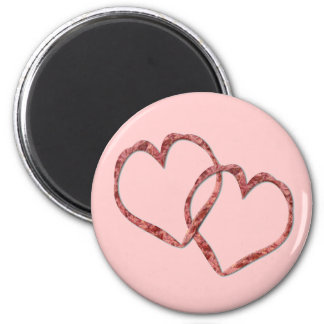 Hearts Intertwined - Customized 6 Cm Round Magnet