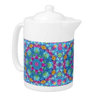 Hearts  Kaleidoscope   Pattern  Teapots