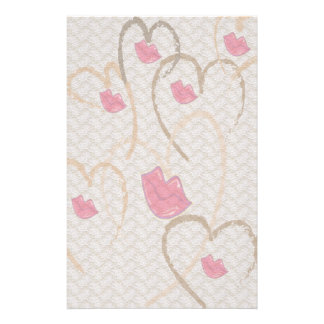 Hearts Kisses and Lace Stationary Stationery