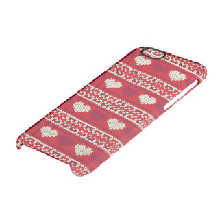 Hearts knitting seamless pattern 1 + your ideas clear iPhone 6/6S case
