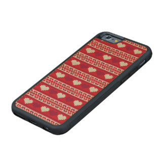 Hearts knitting seamless pattern 1 + your ideas maple iPhone 6 bumper