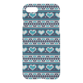 Hearts knitting seamless pattern 2 + your ideas iPhone 7 case