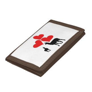 Hearts & Llamas Trifold Wallet