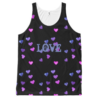 Hearts Love All-Over Print Singlet