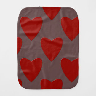 Hearts love colorful st valentines day burp cloth