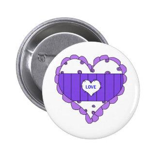 Hearts Love Purple Kids Stuff 6 Cm Round Badge