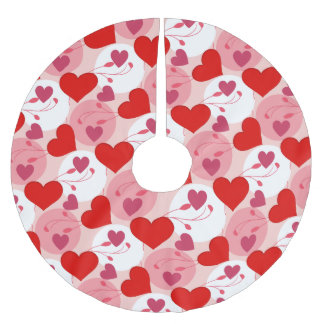 Hearts Love Romance Valentines Day Pink Feminine Brushed Polyester Tree Skirt