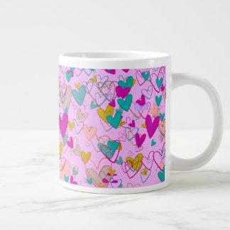 Hearts Love Romantic Powerful Dramatic Artistic Large Coffee Mug