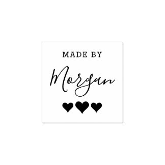 Hearts | Made By Custom Name Creative Wooden