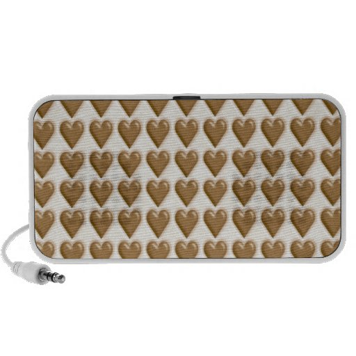 Hearts - Milk Chocolate and White Chocolate Mp3 Speakers