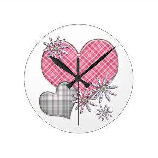 Hearts n flowers clock