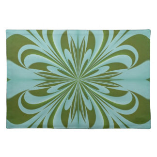 Hearts n Flowers Green American MoJo Placemat
