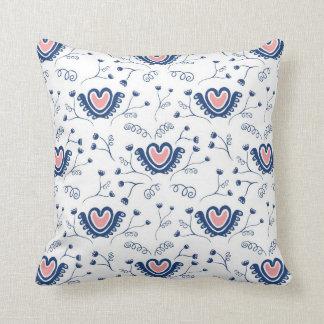 Hearts n' Flowers Throw Pillows