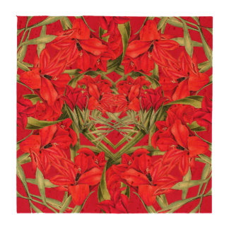 Hearts of Gladiola Flowers Floral Cork Coasters