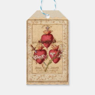 Hearts of Jesus, Mary, & Joseph Gift Tags