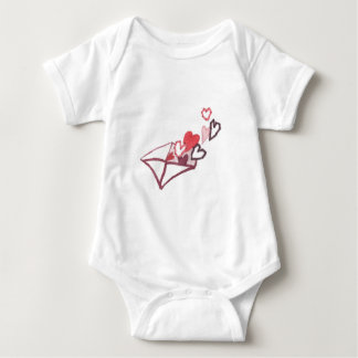Hearts of Love Envelope Baby Bodysuit