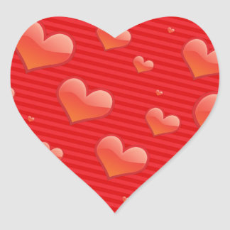 Hearts of Red Heart Sticker