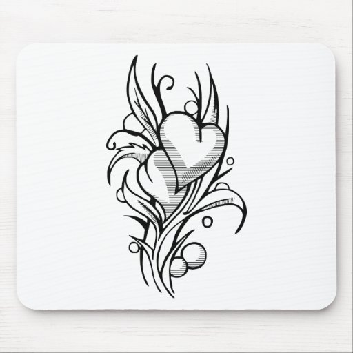 Hearts of soul mates mouse pad