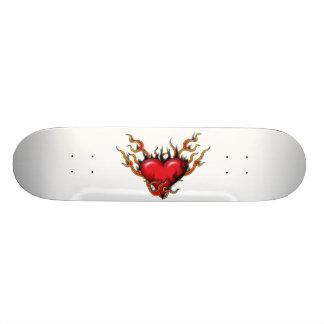 """Hearts On Fire - 7 3/4"""" Deck Skateboard"""