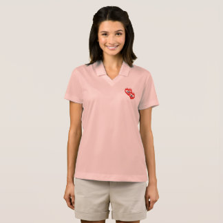 Hearts on Fire Double Monogram Valentine Polo Shirt