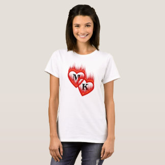 Hearts on Fire Double Monogram Valentine T-Shirt