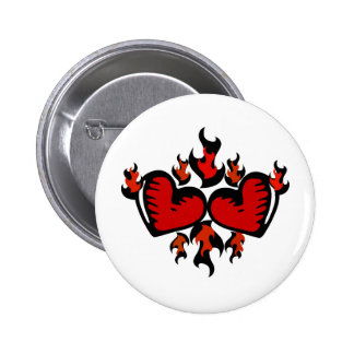 HEARTS ON FIRE GRAPHIC PRINT PIN
