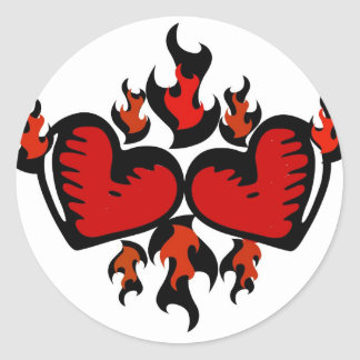 HEARTS ON FIRE GRAPHIC PRINT STICKER