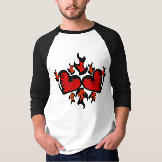 HEARTS ON FIRE GRAPHIC PRINT T-Shirt