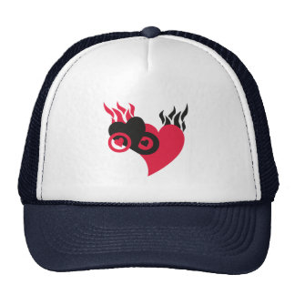Hearts on Fire Mesh Hats