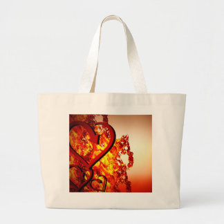 Hearts on fire large tote bag