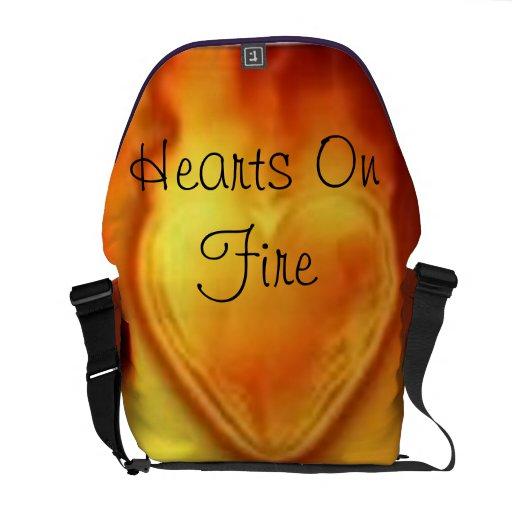 hearts on fire messenger bag