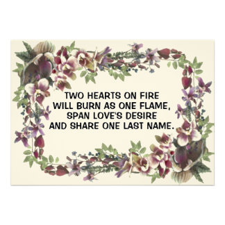 Hearts On Fire Wedding Invitations