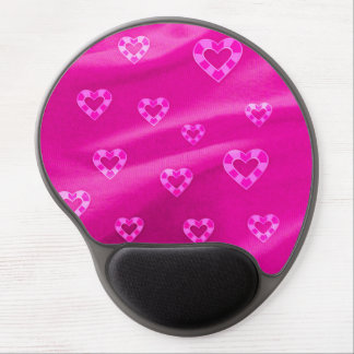 Hearts on Jersey,pink Gel Mouse Pad