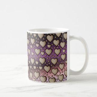 Hearts on Shiny background Coffee Mug