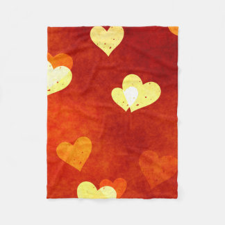 hearts on smooth red on blanket