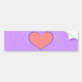 Hearts on Swirls Bumper Sticker