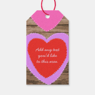 Hearts on Wood Valentine's Day Gift Tags